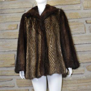 Manteau jacket de rat musqué deux couleurs