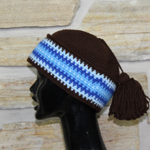 407-Tuque Inuit en laine marron